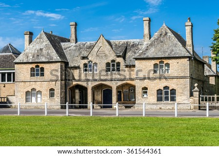 Lovely old cotswold stone house in Witney,Oxfordshire, England, UK