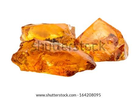 Lovely orange Citrine gemstone crystals - stock photo