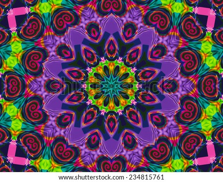lovely purple mandala for meditation - stock photo