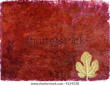 lovely red background image with interesting texture, floral elements and plenty of space for text - stock photo