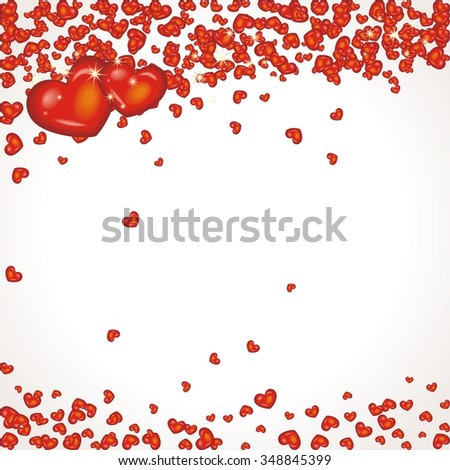 lovely romantic background with hearts