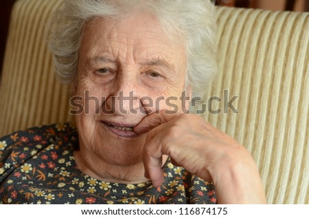 lovely senior woman - stock photo