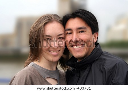 lovely smiling couple