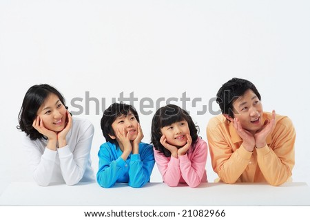 Lovely Smiling Family - stock photo