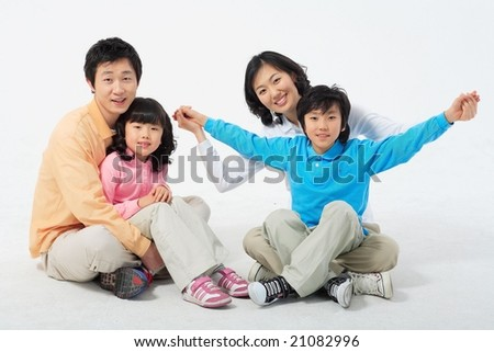 Lovely Smiling Family