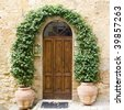 lovely tuscan doors - stock photo