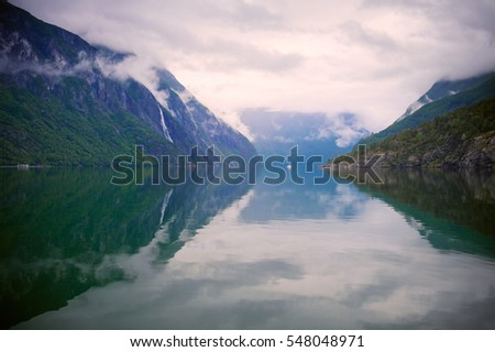 Lovely view of the Geirangerfjord. Norway