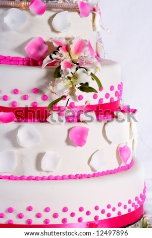 lovely wedding cake - stock photo