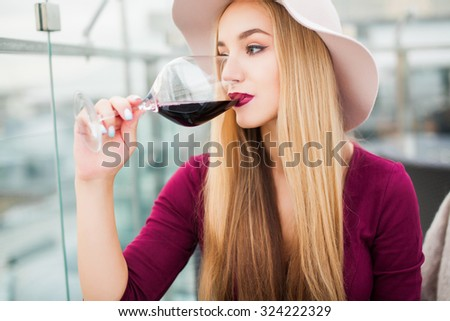 Woman Drinking Alcohol Stock Images, Royalty-Free Images
