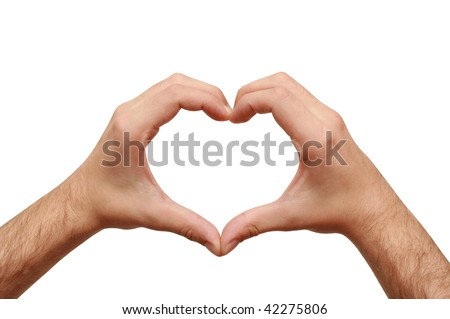 lover's heart - stock photo