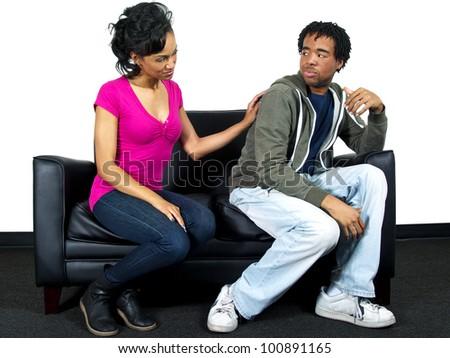 lover's quarrel - stock photo