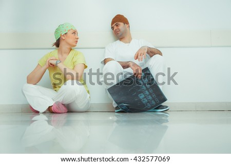 Lovers doctors in hospital