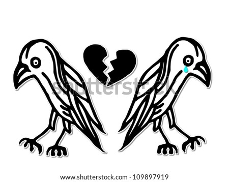 Lovers Quarrel - stock photo