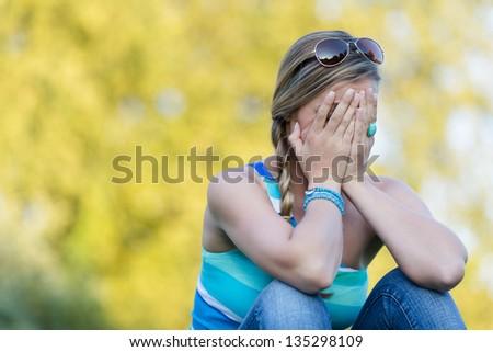 lovesickness - stock photo