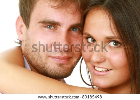 Loving couple embracing