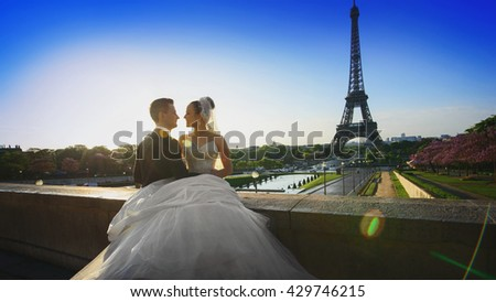 Loving couple in Paris - wedding photography