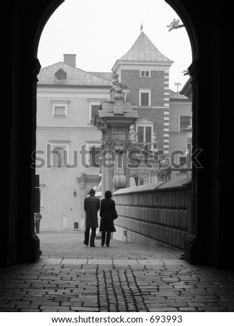 Loving Couple. Photo was taken at Krakov, Poland, October 2005