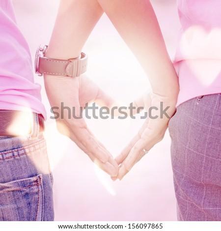 Loving hands - stock photo