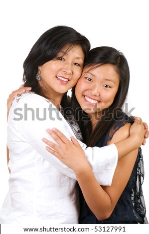 Loving mother and daughter relationship - stock photo