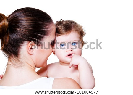 Loving mother and lovely baby