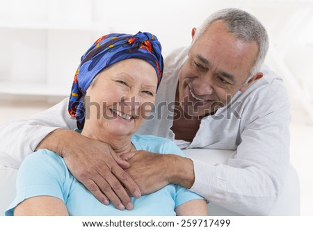 loving senior couple - stock photo