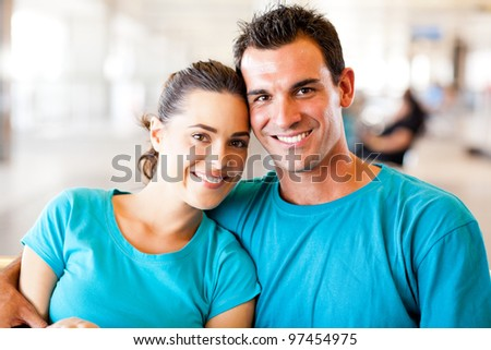 loving young couple portrait - stock photo