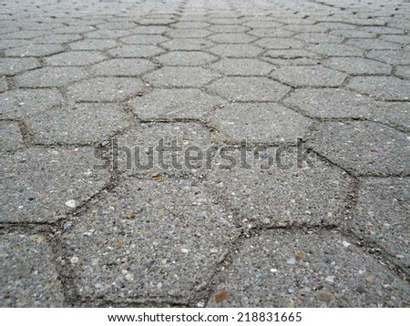 low angle full frame abstract cobblestone mackground - stock photo
