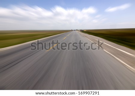 Low angle speed road
