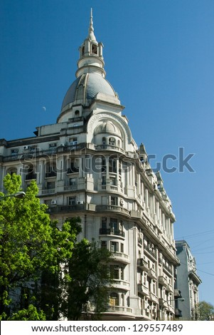 Low angle view of a building, Microcentro, Buenos Aires, Argentina - stock photo