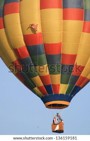 Low angle view of a hot air balloon in Sunrise Hot Air Balloon Race, Miami, Miami-Dade County, Florida, USA - stock photo