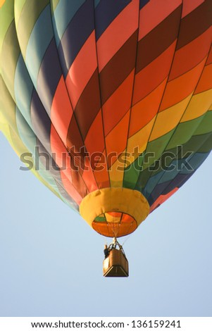 Low angle view of a hot air balloon in Sunrise Hot Air Balloon Race, Miami, Miami-Dade County, Florida, USA - stock photo