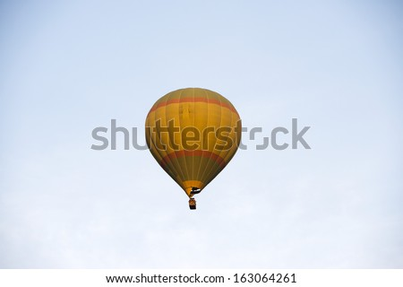 Low angle view of a hot air balloon, Pushkar, Ajmer, Rajasthan, India - stock photo