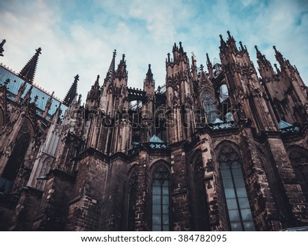 low angle view of cologne dome at germany