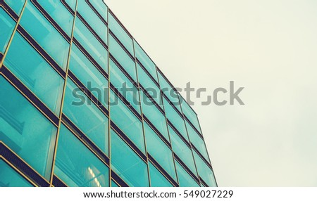 low angle view of glass block