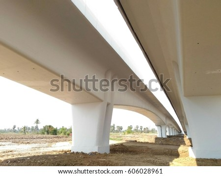 low angle view of overpass highway