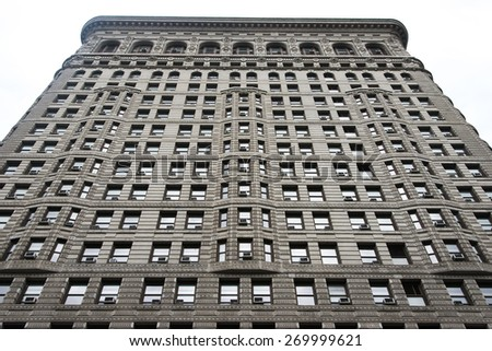 Low angle view of the Flatiron Building, Manhattan, New York City, New York State, USA
