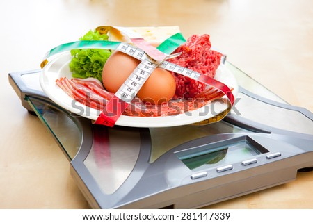 Low carb diet - stock photo