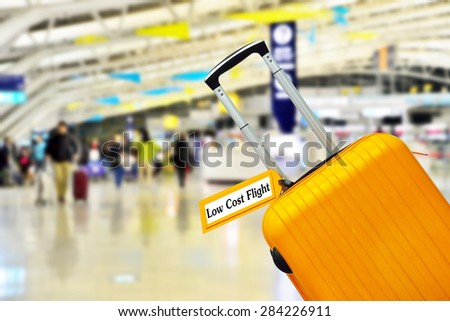 Low Cost Flight. - stock photo