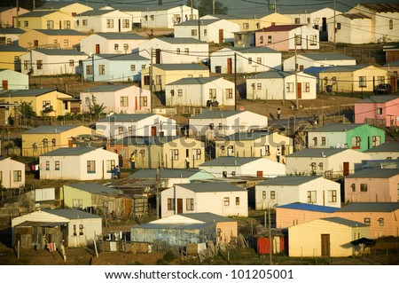 Low cost housing - stock photo