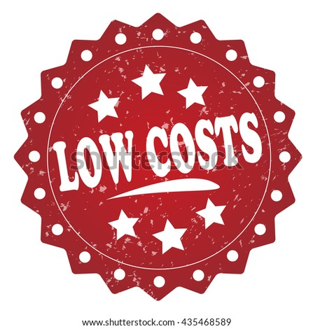 low costs Grunge stamp - stock photo