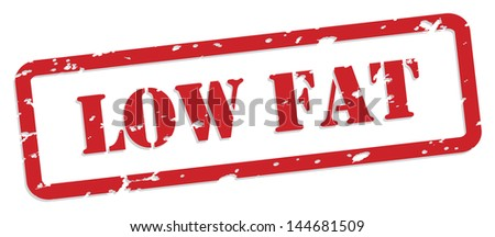 Low fat red rubber stamp vector for food nutrition concept - stock photo