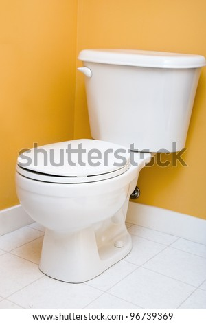 Low flow toilet - stock photo