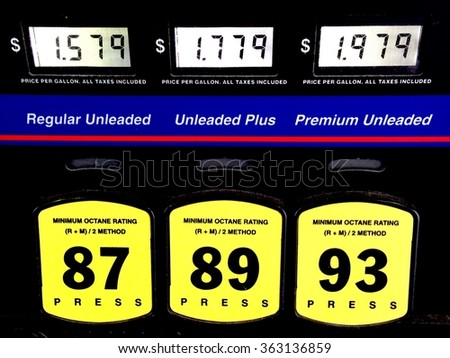 Low gasoline prices in January 2016