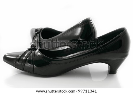 Low heels shoes for women. - stock photo