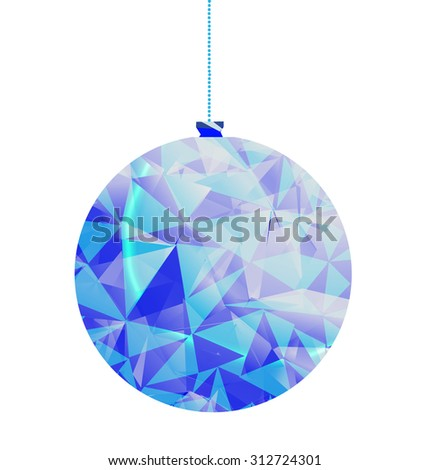 low poly christmas bauble - stock photo