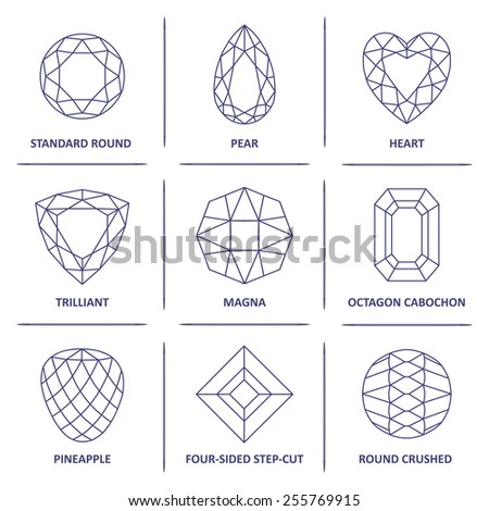Set  Vector Gemstones On Graph Stock Vector   Shutterstock