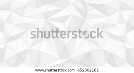 Low Poly Shapes White Polygonal Background Light Crystals Triangles Mosaic Creative Wallpaper