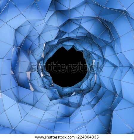 Low poly tunnel - stock photo