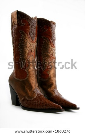 low side/front view of cowgirl boots