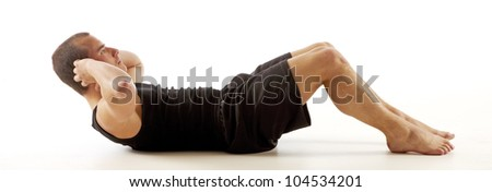 Low Sit Up - stock photo